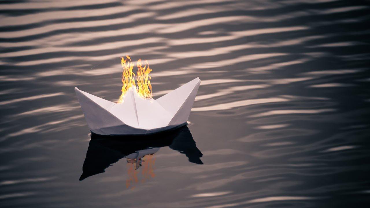 Båtbrann